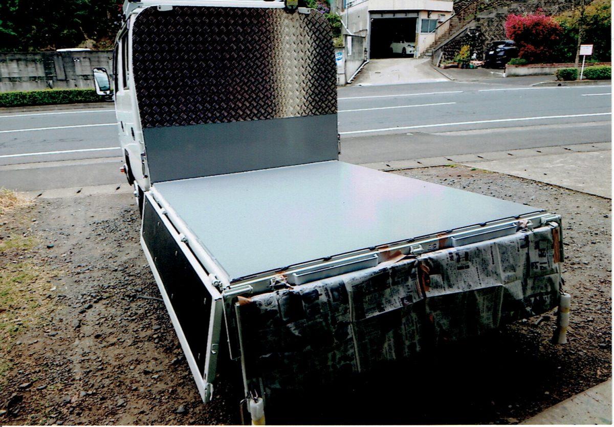 トラック鉄板ハリ・アルミ縞板ハリ