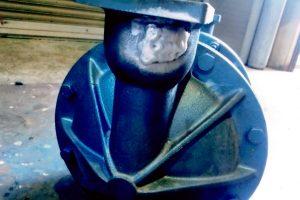 アルミモーターケースの溶接修理